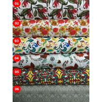 Tecido Jacquard Floral 1m X 1.40m Decoração Tapeçaria Jacar