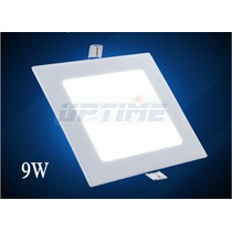 Painel Plafon Luminaria Led Quadrado Embutir Ultra Slim 9w
