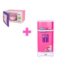 Geladeira Super Magic Toys Sai Água+microondas Infantil
