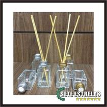 Aromatizador Difusor Frasco De Vidro 30ml + Varetas Kit C/50