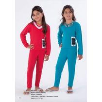 Pijama Victory Feminino Infantil Inverno Longo