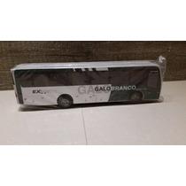 Miniatura De Ônibus Da Galo Branco Em Madeira S/ Retrovisor