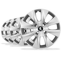 Jogo Calota Aro 14 206 207 208 307 Emblema Peugeot - P33