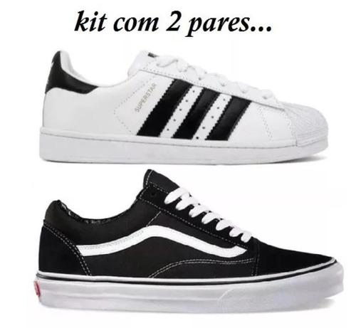 ca155570a83 Tenis Vans Old Skol + Superstar Não Fique De Fora!!