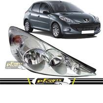Farol Peugeot 207 2007 08 09 2010 2011 2012 Cromado Direito