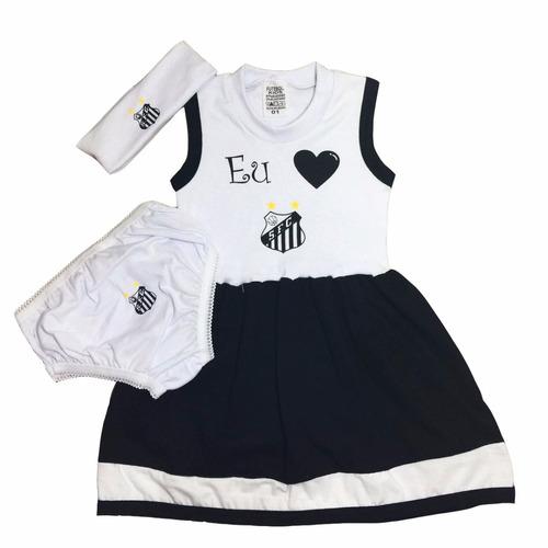 80402df98a Conjunto Do Santos Vestido P  Bebê C  3 Peças Menina