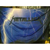 Bandeira Metallica Ride The Lightning 100% Polyester