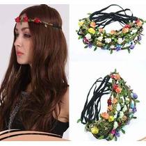 1 Kit C/ 5 Headband Tiara Coroa Flores Festival Praia