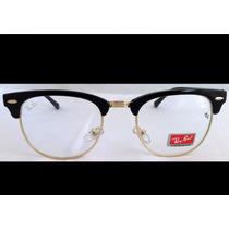 Armação De Oculos Rayban Estilo Clubmaster Frete Gratis