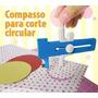 Compasso Cortador De 1 A 15cm Corte Circular Papel Scrapbook