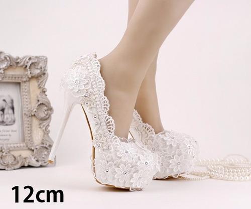 3217e3f8df Sapato De Noiva Casamento Branco Luxo Com Strass Salto Alto