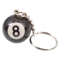 Mini Bola De Sinuca Bilhar Chaveiro N° 08 Preta 25mm