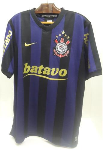 c0fb7980533cc Camisa Nike Corinthians 3 2009 Batavo Listrada Preta E Roxa. R$ 499