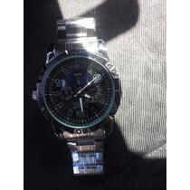 Relógio Masculino Resistente Água Pulceira Inox