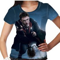 Camiseta Harry Potter Nimbus Feminina