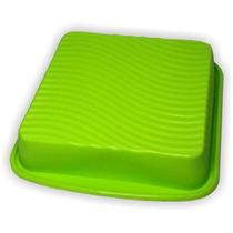Forma Assadeira Quadrada Silicone - Torta Bolo Doces 300º