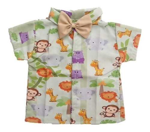 aca3f594e7809b Camisa Infantil Social Temática Safari Baby - Roupa/festa à venda em ...