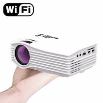 Mini Projetor 800 Lumens Hdmi Usb Wifi Ao Vivo Celular Uc36+
