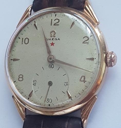 6db1bb90f4e Relógio Omega Estrela Vermelha Em Ouro 18k Lindo E Grande