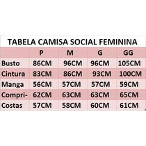 eff00e13dfe4f Camisa Social Feminina Slim Estilo Romênia à venda em São Luís Volta ...