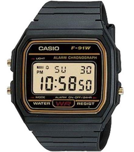 Relógio Casio Masculino F-91wg-9qdf Original Barato