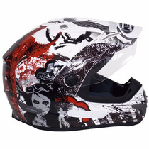 Capacete Helt Cross Vision Red 55/56