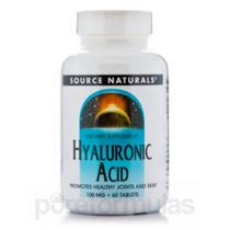 Ácido Hialurônico 100 Mg - 60 Comprimidos Por Source Natur