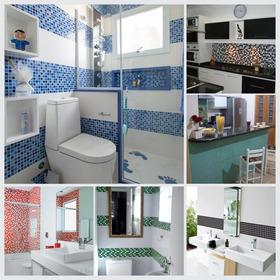 Adesivo Pastilha Decorativa Cozinha Banheiro