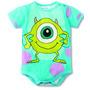 Body Bebê Desenho Animado Monstros S.a. Mike Wazowski