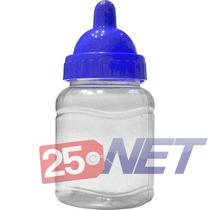 250 Mini Mamadeira 50ml Lembrancinhas C/ Bico Azul Royal