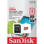 Cartão De Memória 8gb Sd+micro Sd Classe 10 Sandisk Sdsdquan
