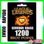 League Of Legends- Lol - 1200 Riot Points - Envio Imediato.