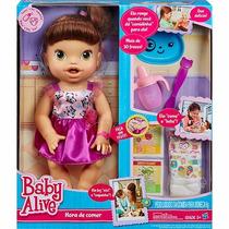 Boneca Baby Alive Morena - Hora De Comer- Hasbro