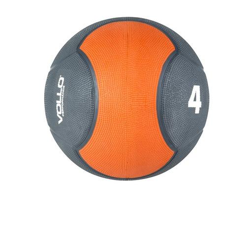 Medicine Ball De Borracha Vp1004 Vollo 4 Kg Cinza E Laranja