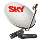 Receptor Sky Pre Pago + Antena 60cm+ Habilitação Globo E Sbt