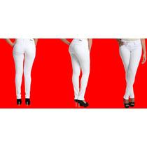 Sawary Calça Jeans Feminina Branca Skinny Levanta Bumbum