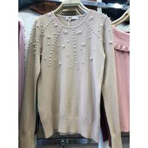 3177076140 Blusa De Frio Casaquinho Feminino Perolas Suéter Tricot 2019 à venda ...