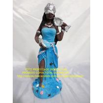 Escultura Orixa Iemanja Africana Rainha Mar Linda Imagem 24c