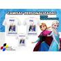 Camiseta - Camisa Personalizada Frozen A4 /kit 3peças