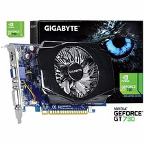Placa Vídeo Geforce Gt 730 2gb Ddr3 128 Bits Gigabyte Dx12