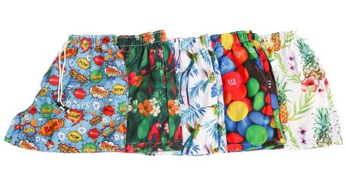 9bca639cd86b Kit Com 5 Bermudas Shorts Praia Masculinos Atacado Revenda à venda ...
