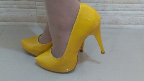 55c95d1542 Sapato Feminino Kit 2 Pares Princesa Cinderela Salto 11cm P