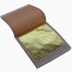 Folhas De Ouro 22 K Genuíno - Caderno Com 25 Folhas