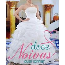 Vestido De Noiva Debutante Pérola Novo Pronta Entrega