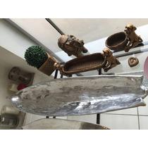 Gamela Em Formato De Canoa - Alumínio Fundido