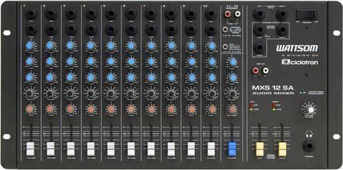 Mxs12sa - Mesa De Som / Mixer 12 Canais Mxs 12 Sa Ciclotron