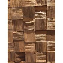 Mosaico Madeira Revestimento Parede Instalar Frete Gratis