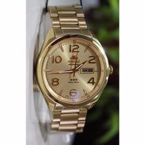Relógio Orient Automático Dourado Masculino 469gp062 C2kx Wr