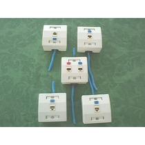 Jogo Com 5 Caixas 7,5 X 7,5 Cm P/ Rede Externa Em Canaleta