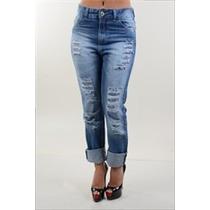 Calça Jeans Feminino Boyfriend Confortavel